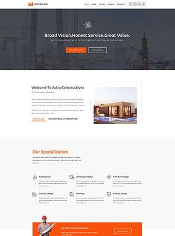 construction-website design Sugar Land