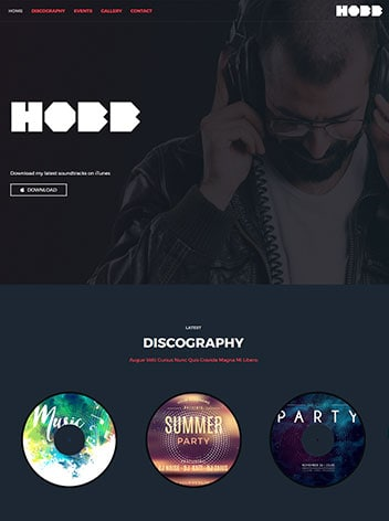 dj-website design Missouri City