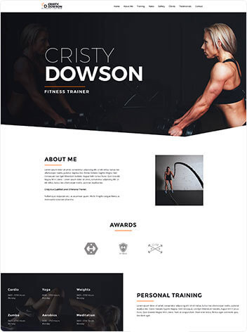 fitness-trainer-website design Rosenberg