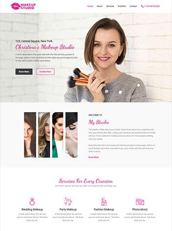 make-up-artist website design Rosenberg