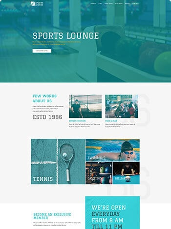 sports-lounge-website design Woodlands