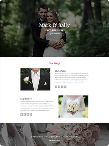 wedding-website design Woodlands